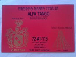 POSTAL POST CARD QSL RADIOAFICIONADOS RADIO AMATEUR GRUPPO ITALIA ALFA TANGO GUATEMALA GRAN JAGUAR TEMPLE TEMPLO ÁLVAREZ - Tarjetas QSL