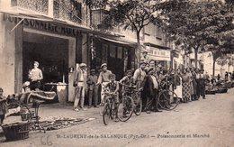 CPA De SAINT-LAURENT De La SALANQUE - Poissonnerie Et Marché. - Francia