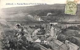 Jemelle - Pont De Wame Et Pont Du Chemin De Fer (train Vapeur 1919, Timbre Taxe) - Rochefort