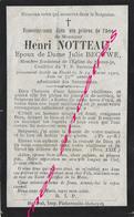 En 1900-Steent-Je (59) Henri NOTTEAU Ep Julie BECUWE Membre Fondateur De L'église-confrérie Saint Sacrement - Décès