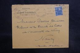 FRANCE - Enveloppe Du Ministère Des Affaires Etrangères Pour Nancy En 1929 - L 35771 - Postmark Collection (Covers)