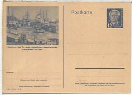 ALEMANIA DDR ENTERO POSTAL PUERTO DE HAMBURG BARCO SHIP - [6] República Democrática
