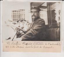 LE CHAUFFEUR  CHAPUIS CONDUCTEUR DE L'AUTOMOBILE ATTAQUÉE SENART +-18*13CM Maurice-Louis BRANGER PARÍS  (1874-1950) - Coches