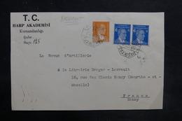 TURQUIE - Devant D' Enveloppe D'Académie Pour Nancy En 1933 - L 35772 - 1921-... Republiek