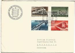SUIZA FDC SPD CIRCULADO FERROCARRIL RAILWAY TREN - Eisenbahnen
