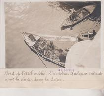 PONT DE L'ARCHEVÊCHÉ L'AUTOBUS APRÈS LA CHUTE DANS LA SEINE +-18*13CM Maurice-Louis BRANGER PARÍS  (1874-1950) - Coches