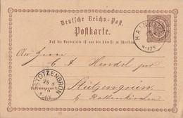 DR Ganzsache K1 Hainichen 27.8.73 Gel. Nach K1 Stützengrün 28.8.73 - Deutschland