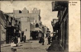 Cp Suez Ägypten, Rue Kormar, Straßenpartie - Autres