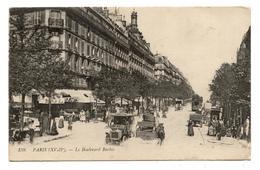 CPA. ( 75 ) .PARIS.boulevard Barbès.commerces.Attelage De Chevaux.cochers.Automobiles.                         .E.63 - Sonstige