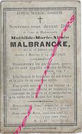 En 1898 Météren (59) Mathilde MALBRANCKE Née En 1855 - Todesanzeige