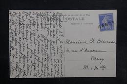 """FRANCE - Griffe Linéaire """" Nancy """" Sur Type Semeuse Sur Carte Postale De Trun - L 35781 - Postmark Collection (Covers)"""