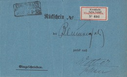 DR R-Rückschein R3 Kirchhain Reg. Bez. Cassel 26.10.81 Gel. Nach R3 Wetter Reg. Bez. Cassel 26.10.81 - Deutschland
