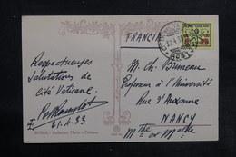 VATICAN - Affranchissement Plaisant Sur Carte Postale En 1933 Pour La France - L 35783 - Covers & Documents