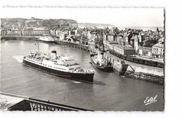 76 Dieppe Vue Générale Avant Port Et Gare Maritime Bateau Paquebot  CPSM PF Edit Estel N°5154 Photo - Dieppe