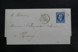 FRANCE - Lettre De Baccarat Pour Nancy En 1861, Affranchissement Napoléon - L 35784 - 1849-1876: Periodo Classico
