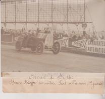 1912 CIRCUIT DE DIEPPE BRUCE BRUGGEN  BROGGEN FIAT +-18*13CM Maurice-Louis BRANGER PARÍS  (1874-1950) - Coches