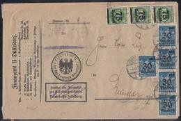 DR Orts-Brief Mif Minr.17x 284,4x 288 Düsseldorf 4.10.23 - Deutschland