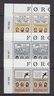 Faroe Islands 1988 Christmas Meeting 3v (pair, Corner) ** Mnh (43578A) - Faeroër