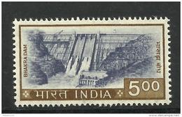 INDIA, 1976, DEFINITIVES, Definitive, 500 ONLY, (Rs Not Indicated). Bhakra Nangal Dam,  MNH, (**) - Nuovi