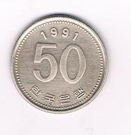 50 WON 1991 ZUID KOREA /5505/ - Corée Du Sud