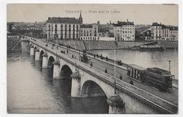 ROANNE EN 1917 - PONT SUR LA LOIRE AVEC TRAMWAY - CPA VOYAGEE - Roanne