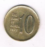 10 WON 1972 ZUID KOREA /5507/ - Corée Du Sud