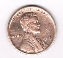 ONE  CENT 1919    USA /5510/ - Émissions Fédérales
