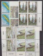 Faroe Isands 1988 Hestur 5v Bl Of 4 (corners) ** Mnh (43579) - Faeroër