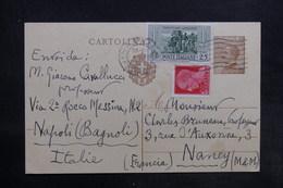 ITALIE - Entier Postal + Compléments De Naples Pour La France En 1932 - L 35797 - 1900-44 Vittorio Emanuele III