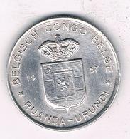 1 FRANC 1957 BELGISCH CONGO /5516/ - Congo (Belge) & Ruanda-Urundi