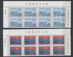 Faroe Islands 1987 Torshavn Views 2v 8x** Mnh (F7927) - Faeroër