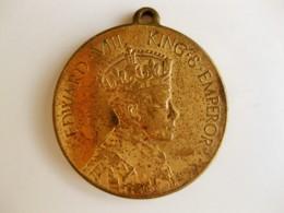 Medaille Edward VIII To Commemorate The Coronation 1937 - Royaux/De Noblesse