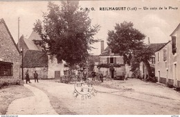 REILHAGUET UN COIN DE LA PLACE 1937 TBE - Frankrijk