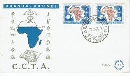 RUANDA-URUNDI-FDC COOPERATION TECHNIQUE EN AFRIQUE AU SUD DU SAHARA-C.C.T.A. - Ruanda-Urundi
