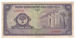 South Vietnam, 200 Dong 1958, F/VF. - Vietnam
