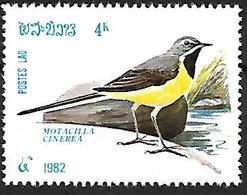 LAOS - MNH - 1982 -  Grey Wagtail    Motacilla Cinerea - Pájaros Cantores (Passeri)