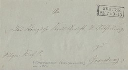 Preussen Brief R2 Wrotzk 23.7. Gel. Nach Graudenz - Preussen