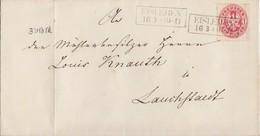 Preussen Brief EF Minr.16 R2 Eisleben 16.8. Gel. Nach Lauchstädt - Preussen