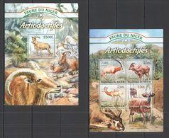 Niger, 2013. [nig13006] Fauna, Antelopes (s\s+bl) - Briefmarken