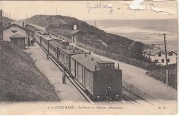 GUETHARY  - La Gare Avec Le Train - Guethary