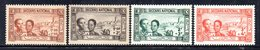 APR1916 - TUNISIA 1944,  Yvert N. 245/248  */*  (2380A)  Soccorso - Tunisia (1888-1955)