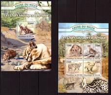 Niger, 2013. [nig13018] Fauna, Predators (s\s+bl) - Raubkatzen