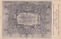 CARTOLINA  - SUA SANTITA' PIO X - RICORDO DEL 1° PELLEGRINAGGIO FRANCESCANO LOMBARDO A ROMA - ASSISI - LA VERNA - 1914 - Papi