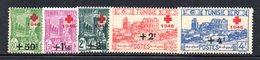 APR1918 - TUNISIA 1946 , Serie Yvert 305/309  *  Linguella  (2380A) Croce Rossa - Nuovi