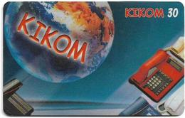 Madagascar - Telecom Malagasy - Kikom, Earth & Phone Devices - Remote Mem. 30Units, Exp. 10.2001, Used - Madagascar