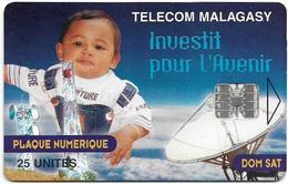 Madagascar - Telecom Malagasy - Investit Pour L'avenir - 25Units, 300.000ex, Used - Madagascar