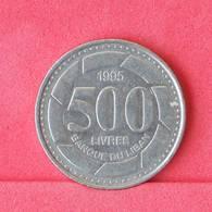 LEBANON 500 LIVRES 1995 -    KM# 39 - (Nº29939) - Liban