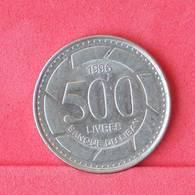 LEBANON 500 LIVRES 1996 -    KM# 59 - (Nº29940) - Liban