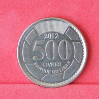 LEBANON 500 LIVRES 2012 -    KM# 59 - (Nº29941) - Liban