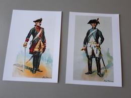 2 Affiches De Cuirassiers 1762 Et 1792  & - Livres, Revues & Catalogues
